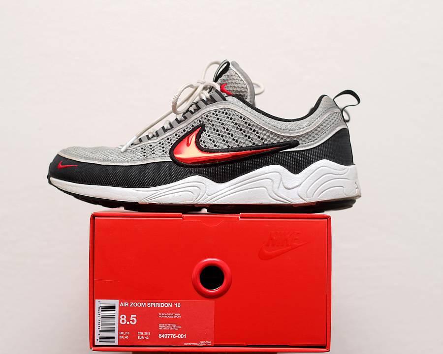 Nike Air Zoom Spiridon OG Silver Red