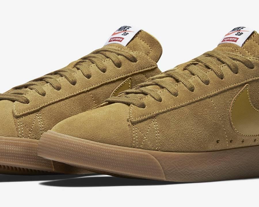 Nike SB Blazer Low GT Supreme Golden Beige (716890-229) · WOMFT ...